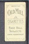 1910 T210-3 Old Mill Texas League  Pendelton  Back Thumbnail