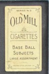 1910 T210-3 Old Mill Texas League  Storch  Back Thumbnail