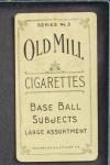 1910 T210-3 Old Mill Texas League  Blue  Back Thumbnail