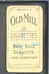 1910 T210-3 Old Mill Texas League  Ens  Back Thumbnail