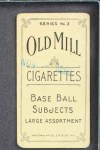 1910 T210-3 Old Mill Texas League  Weber  Back Thumbnail