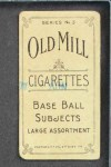 1910 T210-3 Old Mill Texas League  Dugey  Back Thumbnail