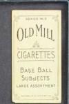 1910 T210-3 Old Mill Texas League  Mills  Back Thumbnail