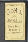 1910 T210-3 Old Mill Texas League  Williams  Back Thumbnail
