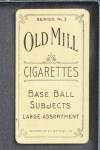 1910 T210-3 Old Mill Texas League  Conaway  Back Thumbnail