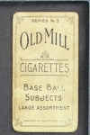 1910 T210-3 Old Mill Texas League  Maloney  Back Thumbnail
