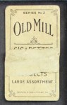 1910 T210-3 Old Mill Texas League  Belew  Back Thumbnail