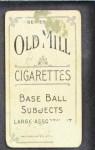 1910 T210-3 Old Mill Texas League  Woodburn  Back Thumbnail
