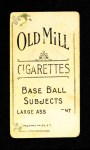 1910 T210-3 Old Mill Texas League  Ash  Back Thumbnail
