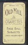 1910 T210-3 Old Mill Texas League  Powell  Back Thumbnail