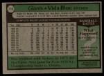 1979 Topps #110  Vida Blue  Back Thumbnail
