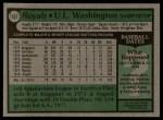 1979 Topps #157  UL Washington  Back Thumbnail