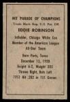 1952 Berk Ross  Eddie Robinson  Back Thumbnail