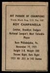 1952 Berk Ross  Roy Campanella  Back Thumbnail