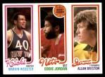 1980 Topps   -  Marvin Webster / Eddie Jordan / Allan Bristow 172 / 155 / 239 Front Thumbnail