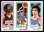 1980 Topps   -  Marques Johnson / Eric Money / Mike Bratz 149 / 83 / 65 Front Thumbnail