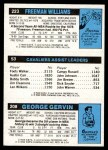 1980 Topps   -  George Gervin / Foots Walker / Freeman Williams 208 / 53 / 223 Back Thumbnail