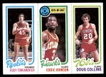 1980 Topps   -  Rudy Tomjanovich / Eddie Johnson / Doug Collins 111 / 13 / 179 Front Thumbnail