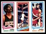 1980 Topps   -  Marques Johnson / Julius Erving / Abdul Jeelani 149 / 262 / 62 Front Thumbnail
