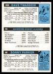 1980 Topps   -  Sonny Parker / John Lucas / Dave Twardzik 98 / 94 / 202 Back Thumbnail