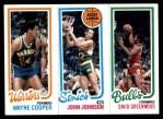 1980 Topps   -  Wayne Cooper / John Johnson / David Greenwood 95 / 226 / 45 Front Thumbnail