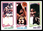1980 Topps   -  Sidney Moncrief / Kareem Abdul-Jabbar / Mike Gale 151 / 133 / 207 Front Thumbnail