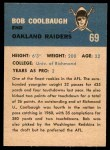 1962 Fleer #69  Bob Coolbaugh  Back Thumbnail