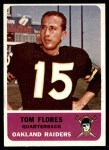 1962 Fleer #68  Tom Flores  Front Thumbnail