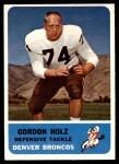 1962 Fleer #40  Gordy Holz  Front Thumbnail
