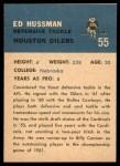 1962 Fleer #55  Ed Hussman  Back Thumbnail