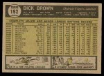 1961 Topps #192  Dick Brown  Back Thumbnail