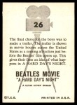 1964 Topps Beatles Movie #26   Final Chore Back Thumbnail