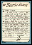 1964 Topps Beatles Diary #26 A Ringo Starr  Back Thumbnail