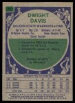 1975 Topps #11  Dwight Davis  Back Thumbnail