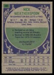 1975 Topps #48  Nick Weatherspoon  Back Thumbnail