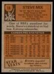 1978 Topps #18  Steve Mix  Back Thumbnail