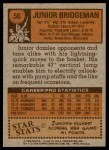 1978 Topps #56  Junior Bridgeman  Back Thumbnail