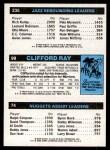 1980 Topps   -  John Roche / Clifford Ray / Ben Poquette 74 / 99 / 235 Back Thumbnail