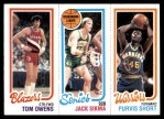 1980 Topps   -  Tom Owens / Jack Sikma / Purvis Short 201 / 225 / 100 Front Thumbnail