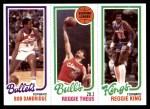 1980 Topps   -  Bob Dandridge / Reggie Theus / Reggie King 246 / 41 / 128 Front Thumbnail