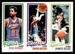1980 Topps   -  Eric Money / Swen Nater / James Silas 90 / 215 / 213 Front Thumbnail
