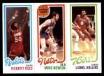 1980 Topps   -  Robert Reid / Mike Newlin / Lionel Hollins 110 / 153 / 182 Front Thumbnail