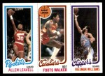 1980 Topps   -  Allen Leavell / Foots Walker / Freeman Williams 106 / 53 / 223 Front Thumbnail