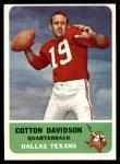 1962 Fleer #24  Cotton Davidson  Front Thumbnail