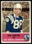 1962 Fleer #78  Don Norton  Front Thumbnail