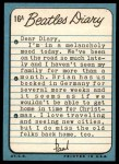 1964 Topps Beatles Diary #16 A Paul McCartney  Back Thumbnail