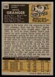 1971 Topps #198  Hoyle Granger  Back Thumbnail