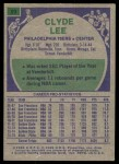 1975 Topps #93  Clyde Lee  Back Thumbnail