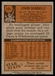 1978 Topps #101  John Gianelli  Back Thumbnail