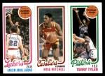 1980 Topps   -  Kareem Abdul-Jabbar / Mike Mitchell / Terry Tyler 132 / 56 / 81 Front Thumbnail